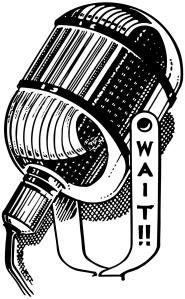 RadioMicrophone Clipart Wait!!